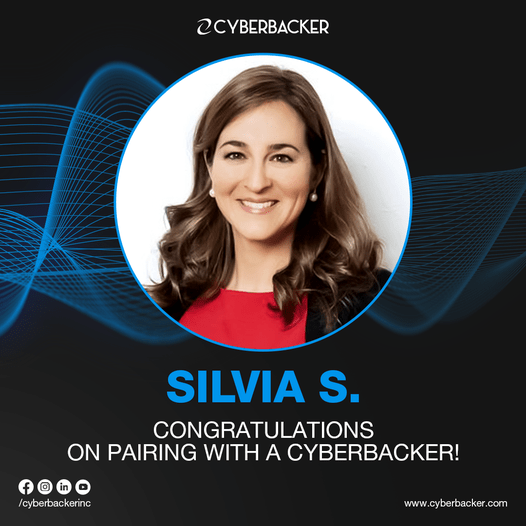 Silvia S. Congratulations on pairing with a Cyberbacker! july 27 2021