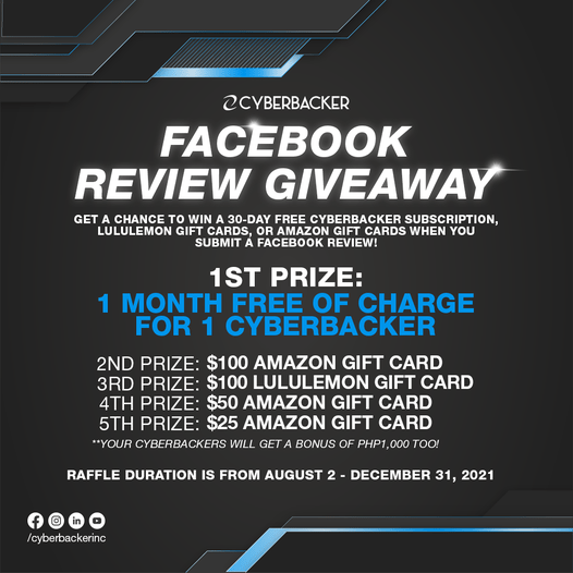 Facebook review giveaway