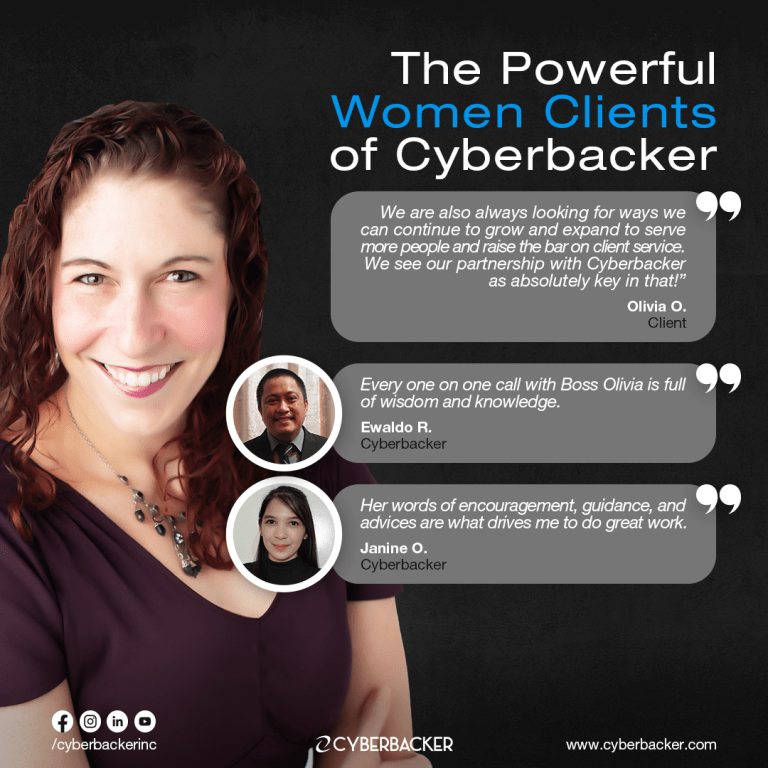 The Powerful Women Clients of Cyberbacker, Best Virtual Assistant Company in United States of America, Virtual Assistant Canada, VA Canada