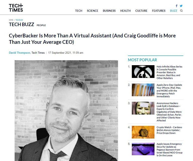 CyberBacker Is More Than A Virtual Assistant (And Craig Goodliffe is More Than Just Your Average CEO)