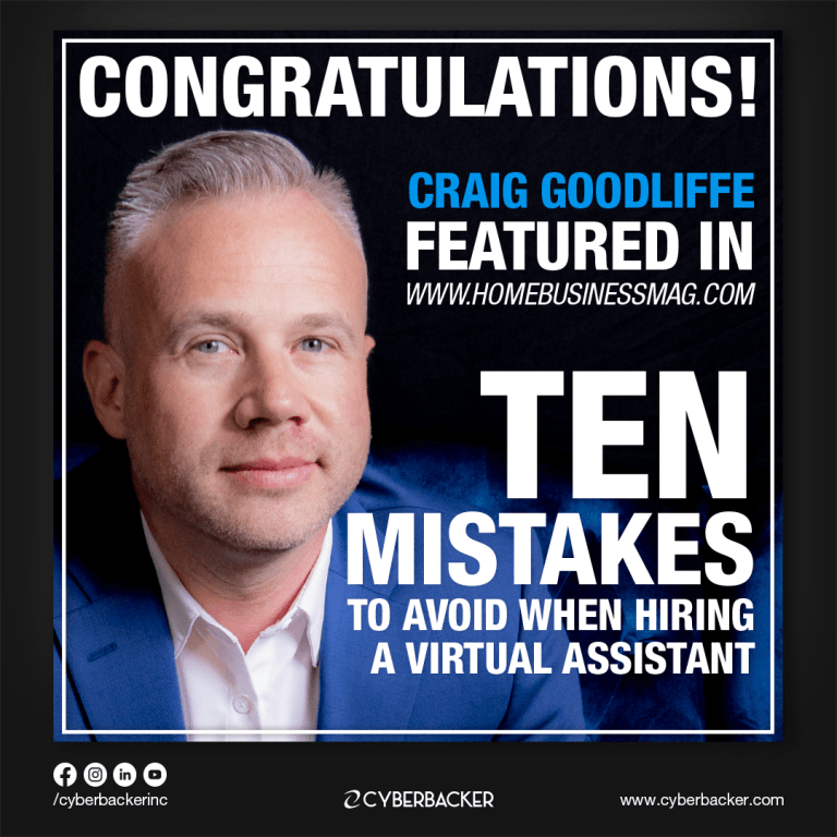 10 Mistakes to Avoid when Hiring a Virtual Assistant by Craig Goodliffe