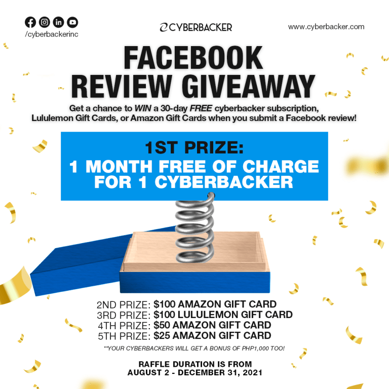 Cyberbacker Facebook Review Giveaway